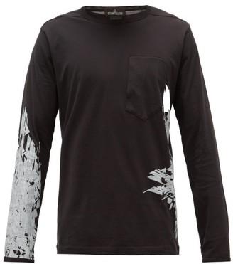 Stone Island Shadow Project Logo-print Cotton-jersey Long-sleeved T-shirt - Black