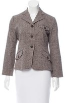 RED Valentino Long Sleeve Notched Lapel Blazer