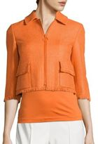 Akris Punto Silk Fringe Jacket