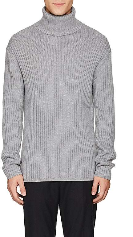 Theory Men's Rib-Knit Wool Turtleneck Sweater