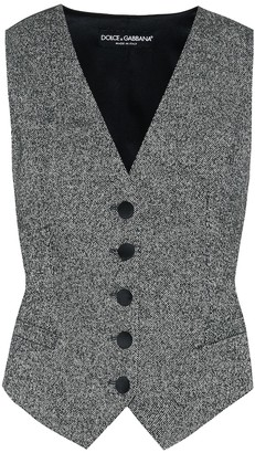 Dolce & Gabbana Wool and silk-blend vest
