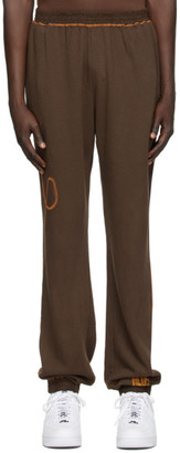 Phlemuns Brown Terry Lounge Pants