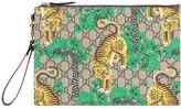 Gucci Bengal tiger print pouch - men - Polyurethane - One Size