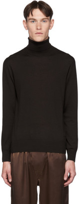 Brioni Brown Cashmere Classic Turtleneck