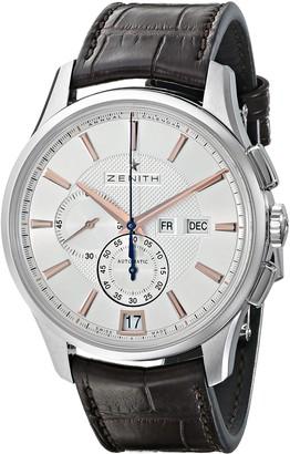 Zenith Men's 0320704054.02C Class Winsor Brown Leather Strap Watch