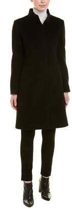 Cinzia Rocca Icons Stand-Up Wool & Cashmere-Blend Coat