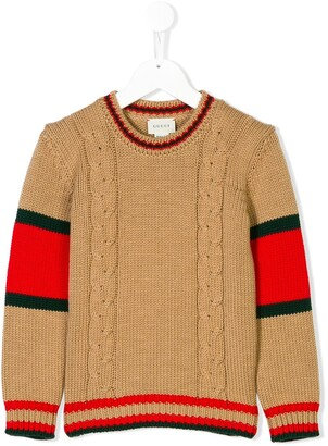 Gucci Kids Cable Knit Sweater