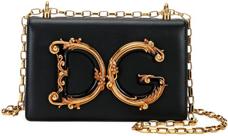 Dolce & Gabbana Baroque Small Leather Crossbody Bag