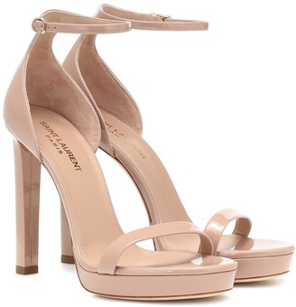 Saint Laurent Hall 105 patent leather sandals