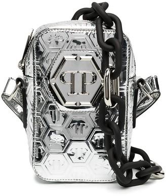Philipp Plein Logo-Embossed Crossbody Bag