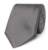 Canali 8cm Silk-jacquard Tie - Gray