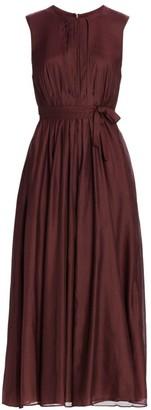 Max Mara Panama Sleeveless Midi Dress