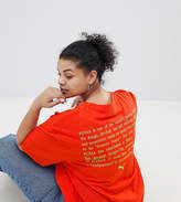 Puma Exclusive To ASOS Plus T-Shirt With Neon Logo In Red