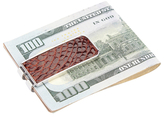 Royce Leather Genuine Alligator Money Clip