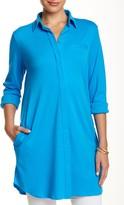 Joan Vass Long Sleeve Shirt Tunic