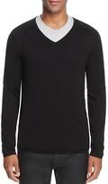 HUGO San Jose V-Neck Plain Knit Sweater