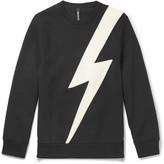 Neil Barrett - Faux Leather-panelled Jersey Sweatshirt