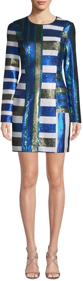 Diane von Furstenberg Women's Sequin Mini Dress