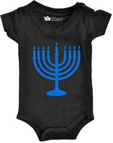 Black Menorah V-Neck Bodysuit - Infant