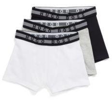 HUGO BOSS Three-pack of kids' boxer shorts with waistband logos