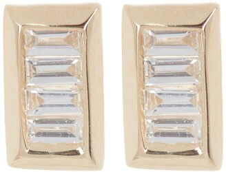 Ron Hami 14K Yellow Gold Diamond Baguette Stud Earrings - 0.15 ctw