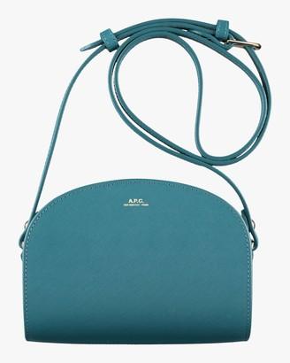 A.P.C. Blue Mini Demi-Lune Crossbody Bag