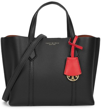 Tory Burch Perry small black leather tote