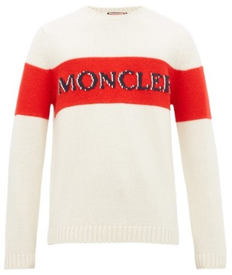 2 Moncler 1952 - Striped Logo-intarsia Wool Sweater - Beige