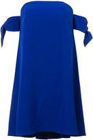 Milly knotted sleeves dress - women - Polyester/Spandex/Elastane - 0