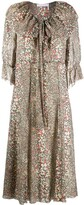 See by Chloe flouncy pythonskin print midi dress