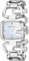 Gucci Women's YA125502 G Small Diamond MOP Dial Steel Watch