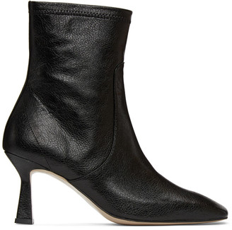 Low Classic Black Stiletto Mid Boots
