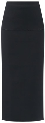 Jil Sander Back-slit Stretch-knit Midi Skirt - Black