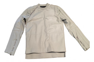 Hood by Air White Leather Jackets