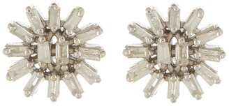Forever Creations Usa Inc. Sterling Silver Baguette Diamond Stud Earrings - 0.25 ctw
