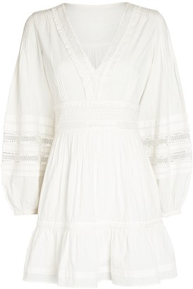 Intermix Bettina Cotton Peasant Mini Dress