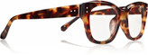 Linda Farrow Luxe Square-frame acetate optical glasses