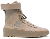 Fear Of God Nubuck Leather Military Sneakers in Neutrals.