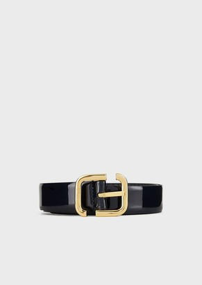 Emporio Armani Reversible, Patent-Leather Belt
