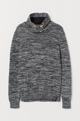 H&M Chimney-collar Sweater - Black