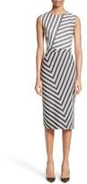 Altuzarra Women's Altuzzara Desdemona Stripe Stretch Wool & Cotton Sheath Dress