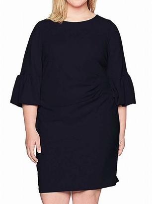 Jessica Howard JessicaHoward Women's Plus Size Bell Sleeve Sheath Dress