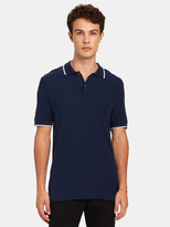 ATM Anthony Thomas Melillo Stripe Pique Cotton Polo