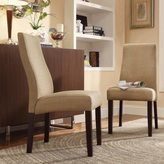 Inspire Q Marcey Tan Linen Wave Back Dining Chair (Set of 2)
