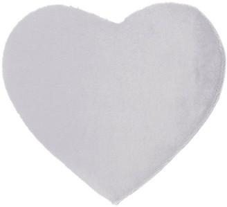 Heart Faux Fur Washable Rug