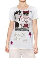 Lanvin Sequin Appliqué Viscose Jersey T-Shirt