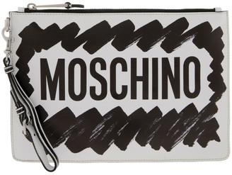 Moschino Highlighter Zip Top Clutch Bag