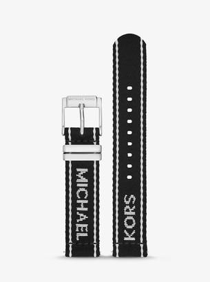 Michael Kors Gen 4 Runway Logo Tape Nylon Smartwatch Strap