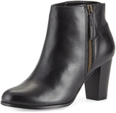 Cole Haan Davenport Leather Zip-Up Bootie, Black