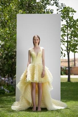 Gemy Maalouf Sleeveless Tiered Puffed Dress